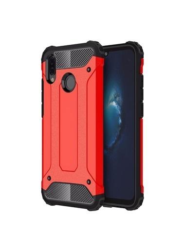 Microsonic Huawei P Smart 2019 Kılıf Rugged Ar  Kırmızı